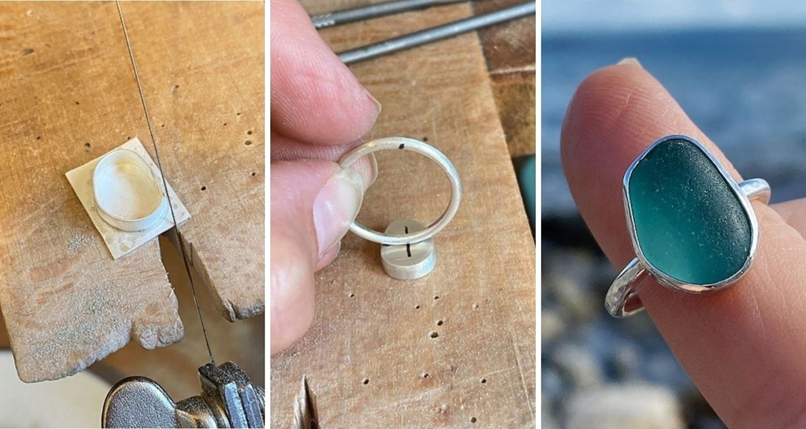 sea glass ring with bezel setting tutorial