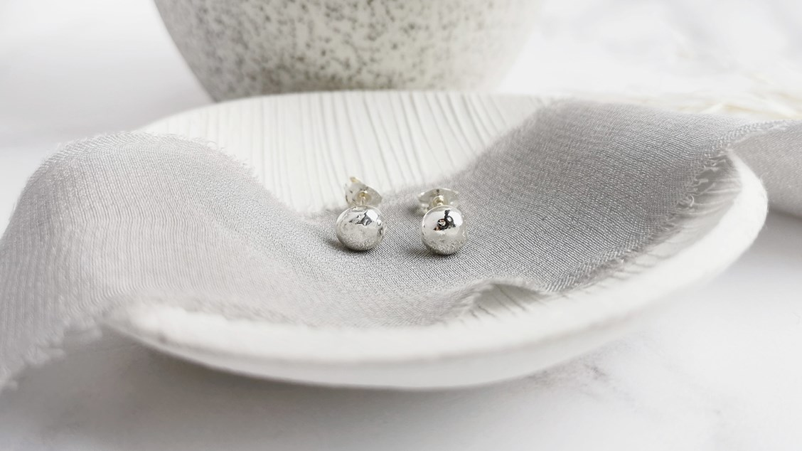 scrap silver earstuds