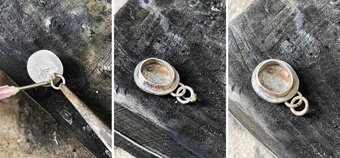 gemstone slice pendant tutorial