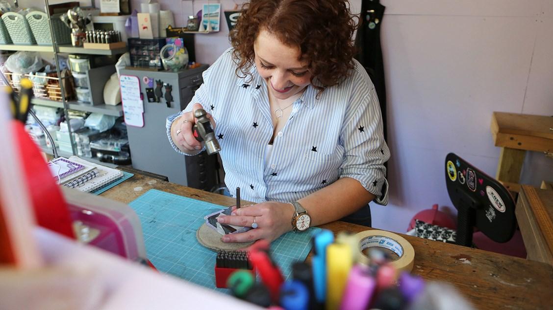 Little Black Cat Jewellery - Kirsty making jewellery