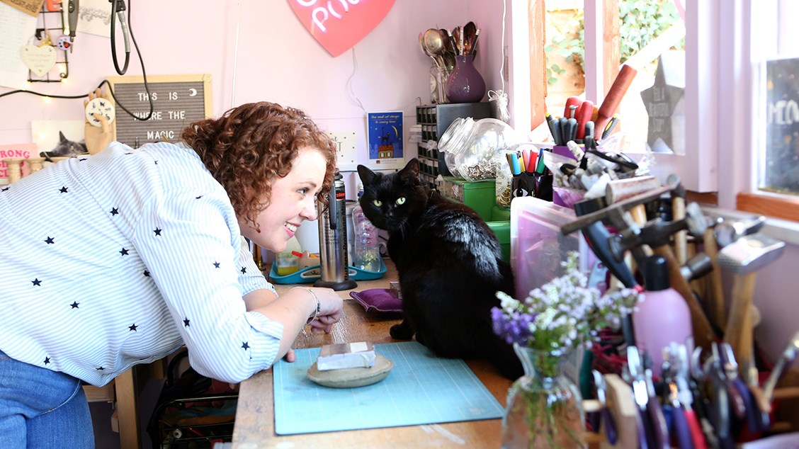 Little Black Cat Jewellery Kirsty and her cat