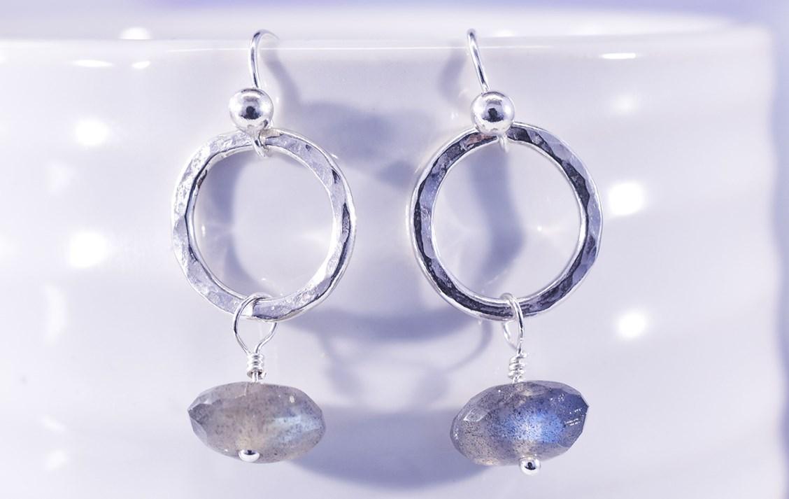 hoop and wire wrap earrings