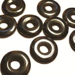 Pack of Five Hematite 20mm donut