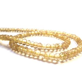 Lemon Quartz Faceted Rondelle Beads, 3x2mm