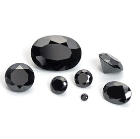 Black Cubic Zirconia Faceted Stones