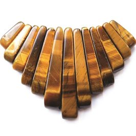 Golden Tigereye Tapered Gemstone Bead Set with 13 Pieces