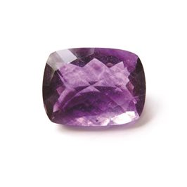 Purple Fluorite  17x13mm Cushion Checker Cut Faceted