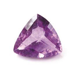 Purple Fluorite 17x16mm Trillion Faceted Stone