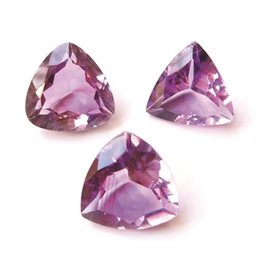 Brazilian Amethyst Trillion Faceted Stone 10mm