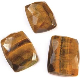 Golden Tiger Eye 20x15mm Rectangular Rose Cut Cabochon