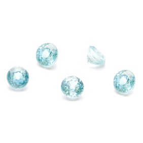 Blue Zircon Faceted Stones