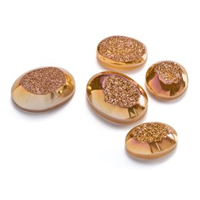 Champagne Rose Window Drusy Cabochons