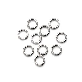 Sterling Silver 5mm Closed Jump Rings