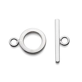 Sterling Silver Plain Flat Toggle Clasp