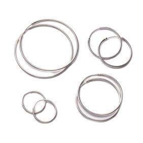 Sterling Silver Hoop Earrings (Pair)