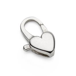 Sterling Silver Heart Carabiner Lobster Clasp