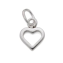 Sterling Silver Open Heart Charms