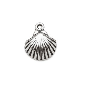 Sterling Silver Scallop Shell Charms