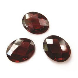 Mozambique Garnet Oval Checkerboard Faceted Stones 8x6mm