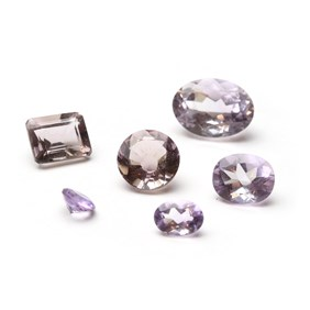 Pink Amethyst Faceted Stones