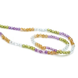 Multicolour Round Beads, Approx 4mm