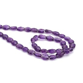 Amethyst Faceted Oval Bead