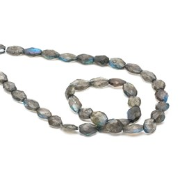 Labradorite Faceted Oval Beads