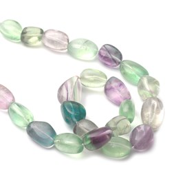 Rainbow Fluorite Nugget Beads Approx 18x13mm