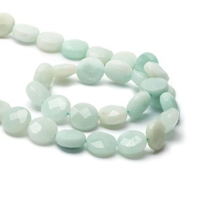 Amazonite Faceted Coin Beads, 10mm