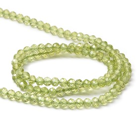 Peridot Faceted Rondelle Beads, 4x2mm