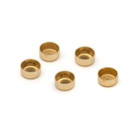 14ct Gold Plain Edge Round Bezel Cups For Cabochons