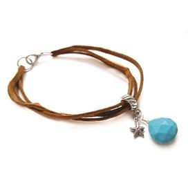 Boho Tan Turquoise Bracelet