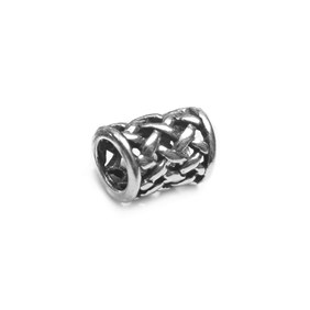 Sterling Silver Woven Charm Beads