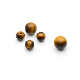 Golden Tiger Eye Round Half Drilled Beads