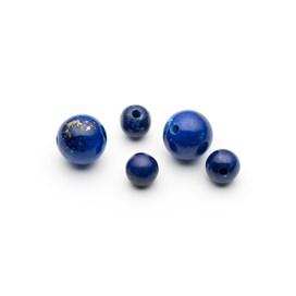 Lapis Lazuli Round Half Drilled Beads