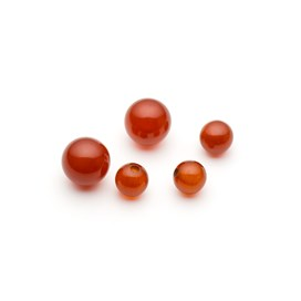 Carnelian Round Half Drilled Beads