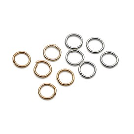 Plated 4mm Round Jump Rings, (Pack of 50)