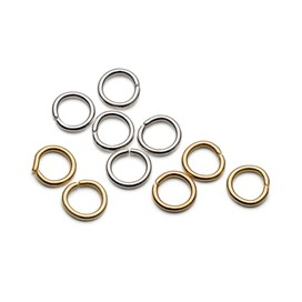Plated 7mm Round Jump Rings (Pack of 50)