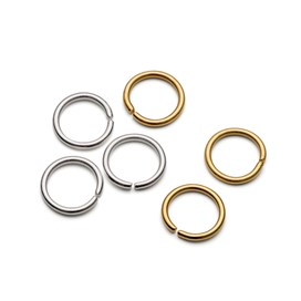 Plated 10mm Round Jump Rings (Pack of 10)
