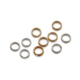 Plated 5mm Split Rings (Pack of 10)
