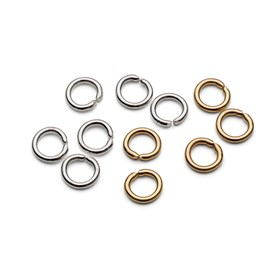 Plated 5mm Round Jump Rings (Pack of 50)
