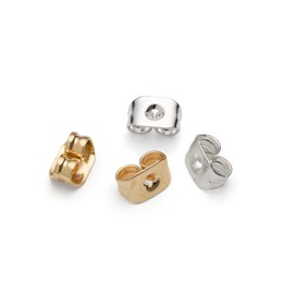 Plated Medium Earring Backs (Pack of 50)