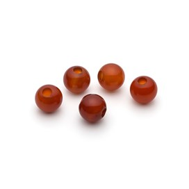 Carnelian 10mm Round Large Hole Beads