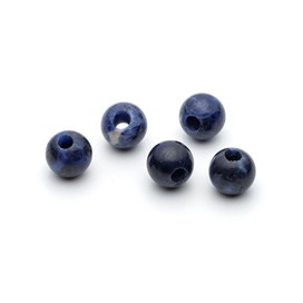 Sodalite 10mm Round Large Hole Beads