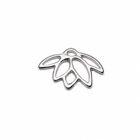 Sterling Silver Lotus Flower Charms
