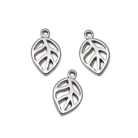 Sterling Silver Open Leaf Charm