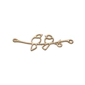 14ct Gold Vermeil Lovebird Branch Connector Link