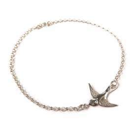 Sterling Silver Swallow Bracelet