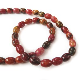 Red Turtle Jasper Rice Shape Beads 8x6mm