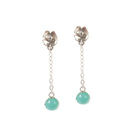 Peruvian Amazonite Poppy Earrings
